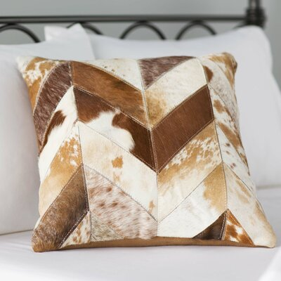 Northbridge Cow Print Throw Pillow Color: Brown/White