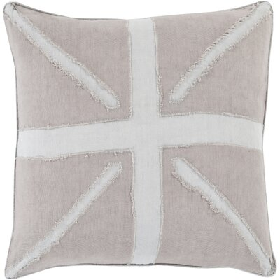 Teton 100% Linen Throw Pillow Cover Size: 18 H x 18 W x 0.25 D, Color: Gray