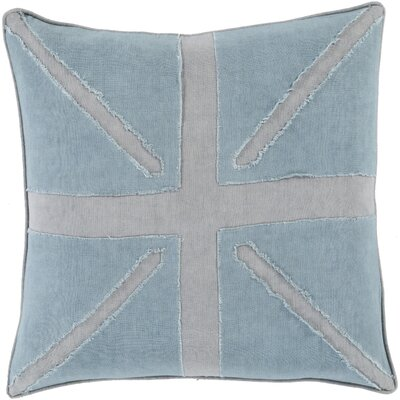 Teton 100% Linen Throw Pillow Cover Size: 22 H x 22 W x 0.25 D, Color: BlueGray