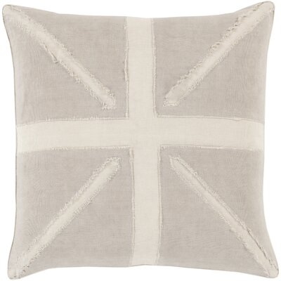Teton 100% Linen Throw Pillow Cover Size: 18 H x 18 W x 0.25 D, Color: BrownNeutral