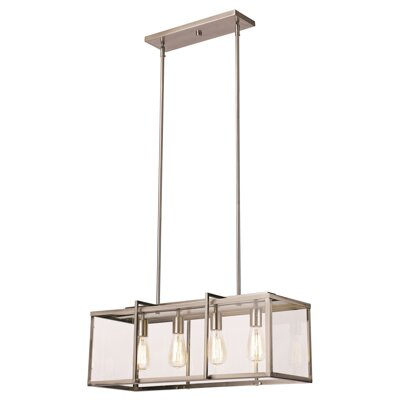 3-Light Kitchen Island Pendant Finish: Brushed Nickel