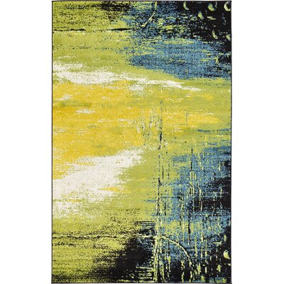 Silver Hills Light Green Area Rug Rug Size: 5 x 8