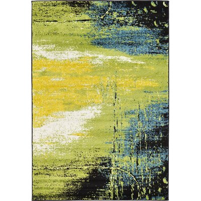 Silver Hills Light Green Area Rug Rug Size: 4 x 6