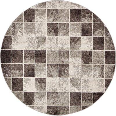 Silverheels Light Brown Area Rug Rug Size: Round 6 x 6