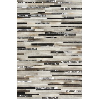 Segula Hand Woven Cowhide Gray Area Rug Rug Size: Rectangle 2 x 3