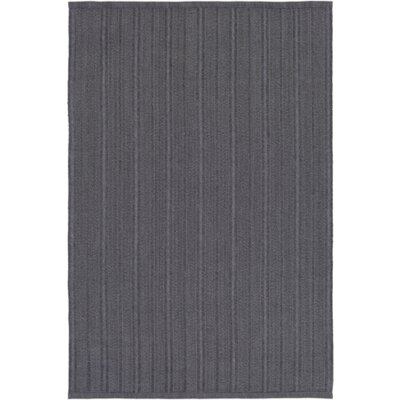 Philip Hand-Woven Black Indoor/Outdoor Area Rug Rug size: Rectangle 4 x 6