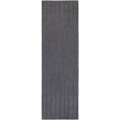 Philip Hand-Woven Black Indoor/Outdoor Area Rug Rug size: Runner 26 x 8