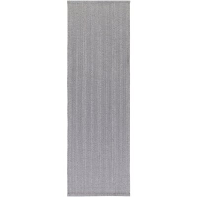 Philip Hand-Woven Light Gray Indoor/Outdoor Area Rug Rug size: Runner 26 x 8