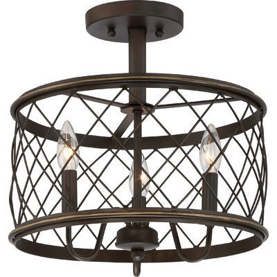Gold Hill 3-Light Semi Flush Mount