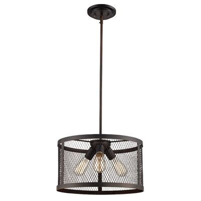 Fowler 3-Light Drum Pendant Finish: Rubbed Oil Bronze
