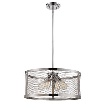 Fowler 3-Light Drum Pendant Finish: Polished Chrome