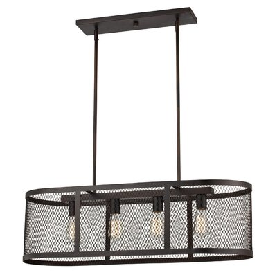 Vernet 4-Light Kitchen Island Pendant Finish: Rubbed Oil Bronze
