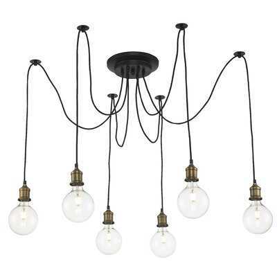 Colton 6-Light Cascade Pendant Finish: Antique Bronze
