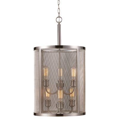 Clark 6-Light Foyer Pendant Finish: Brushed Nickel
