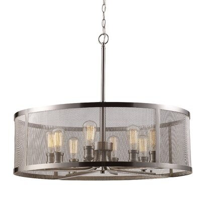 Clark 8-Light Drum Chandelier Finish: Brushed Nickel