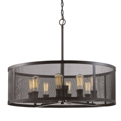 Clark 8-Light Drum Chandelier Finish: Rubbed Oil Bronze