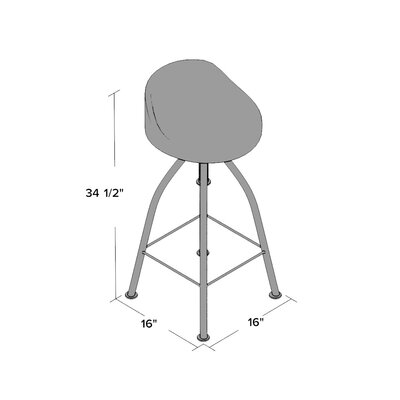 Eldorado Adjustable Height Bar Stool