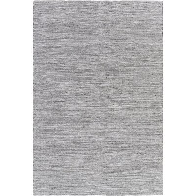 Hugo Hand-Woven Black/White Area Rug Rug size: Rectangle 5 x 76