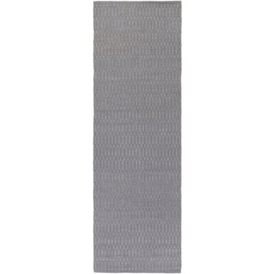 Ronald Hand-Woven Medium Gray Indoor/Outdoor Area Rug Rug size: Runner 26 x 8