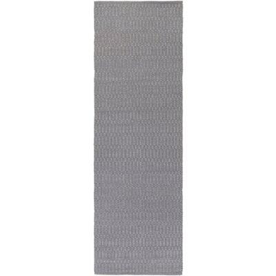 Live Oak Hand-Woven Medium Gray Indoor/Outdoor Area Rug Rug size: Runner 26 x 8