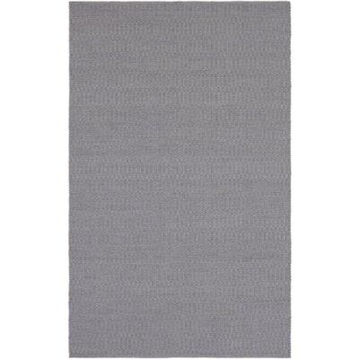 Live Oak Hand-Woven Medium Gray Indoor/Outdoor Area Rug Rug size: 5 x 76