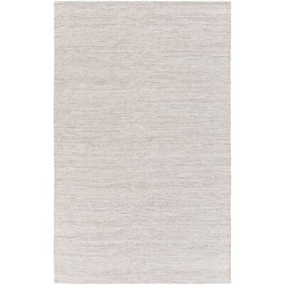 Hugo Hand-Woven Dark Brown/White Area Rug Rug size: 4 x 6