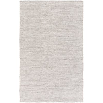 Portola Hand-Woven Dark Brown/White Area Rug Rug size: 6 x 9