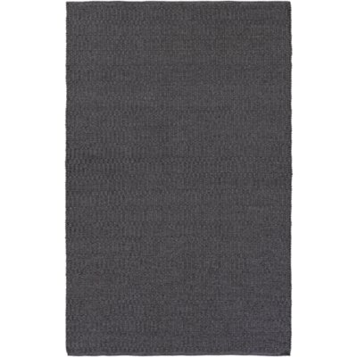 Ronald Hand-Woven Black Indoor/Outdoor Area Rug Rug size: Rectangle 5 x 76