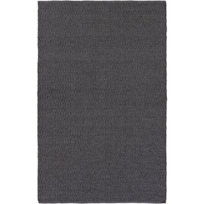 Ronald Hand-Woven Black Indoor/Outdoor Area Rug Rug size: 4 x 6