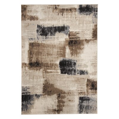Stockett Black/Taupe Area Rug Rug Size: 53 x 73