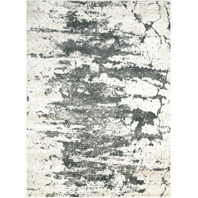 Mana Ivory Gray Area Rug Rug Size: Rectangle 93 x 129