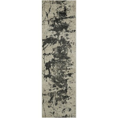 Dendron Ivory Gray Area Rug Rug Size: Runner 22 x 76