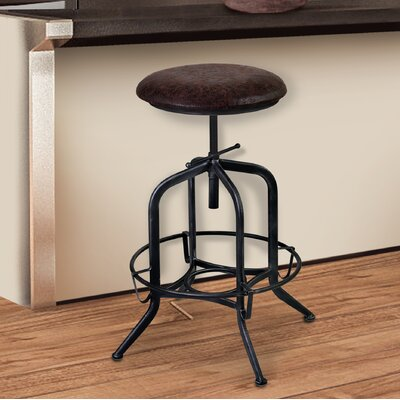 Siyeh Adjustable Height Swivel Bar Stool with Cushion