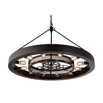 Cheval 12-Light Geometric pendant