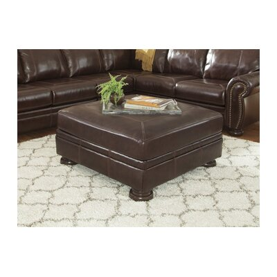 Marcelle Accent Leather Ottoman