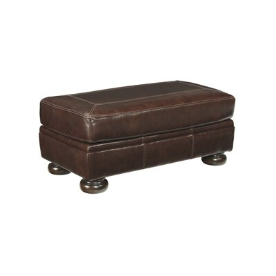 Marcelle Leather Ottoman