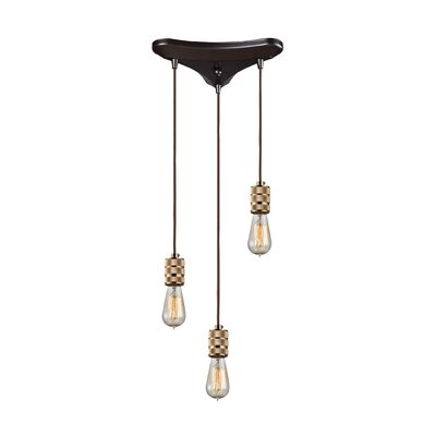 Elmira 3-Light Cascade Pendant
