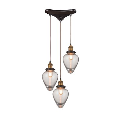Cyprien 3-Light Cascade Pendant