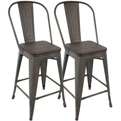 Claremont 24 inch Bar Stool Finish: Antique/Espresso