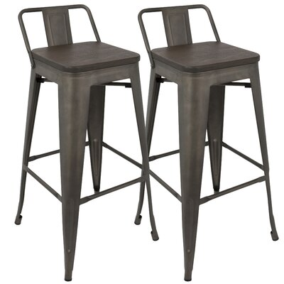 Claremont 30 Bar Stool Finish: Antique/Espresso