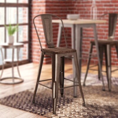 Fortuna 23.5 Bar Stool Finish: Bronze