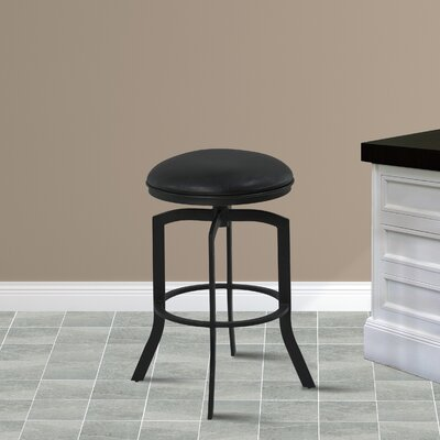 Haysi 26 Swivel Bar Stool Finish: Black
