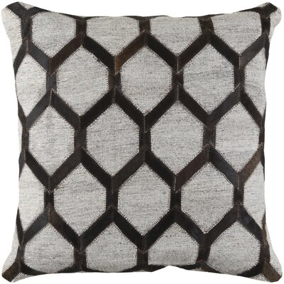 Armando Geometricn Throw Pillow Color: Black