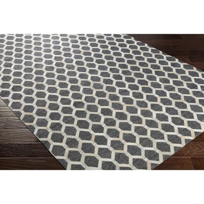 Armando Hand-Crafted Neutral/Gray Indoor Area Rug Rug Size: 8 x 10