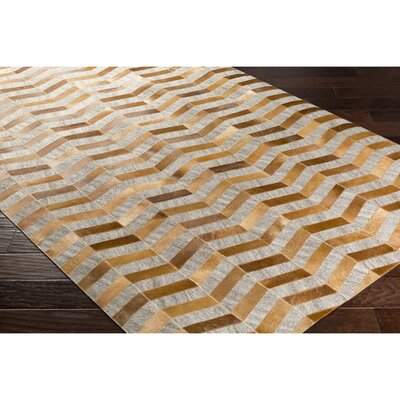 Armando Hand-Crafted Chevron Brown/Neutral Area Rug Rug Size: 2 x 3