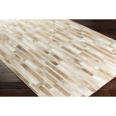 Armando Hand-Crafted Geometric Brown/Neutral Area Rug Rug Size: Rectangle 5 x 76