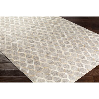 Rexburg Retangle Hand-Crafted Yellow/Neutral Area Rug Rug Size: 5 x 76