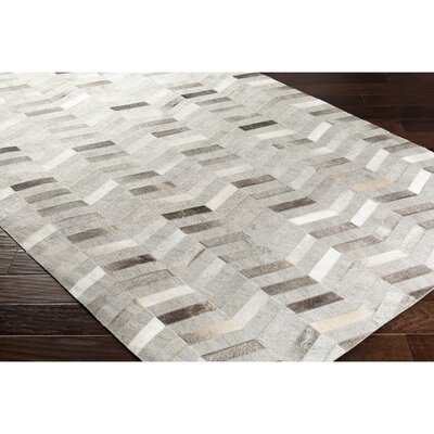 Armando Hand-Crafted Chevron Brown Area Rug Rug Size: 8 x 10