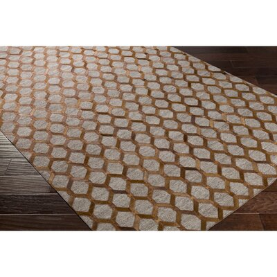 Rexburg Hand-Crafted Brown/Neutral Indoor Area Rug Rug Size: 2 x 3