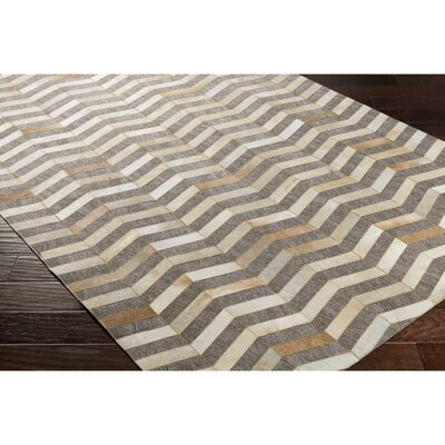 Armando Hand-Crafted Chevron Yellow/Neutral Area Rug Rug Size: Rectangle 2 x 3